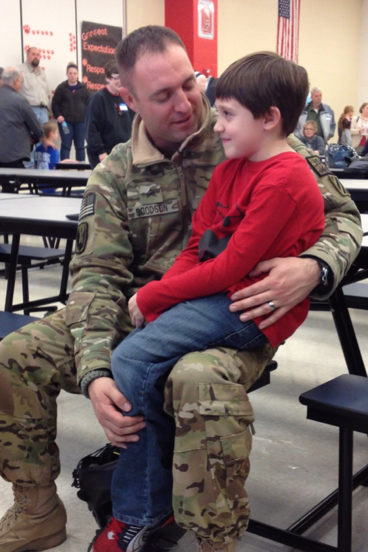 Sargent Goodson and his son, Brady.