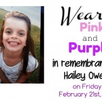 Wear purple and pink for Hailey
